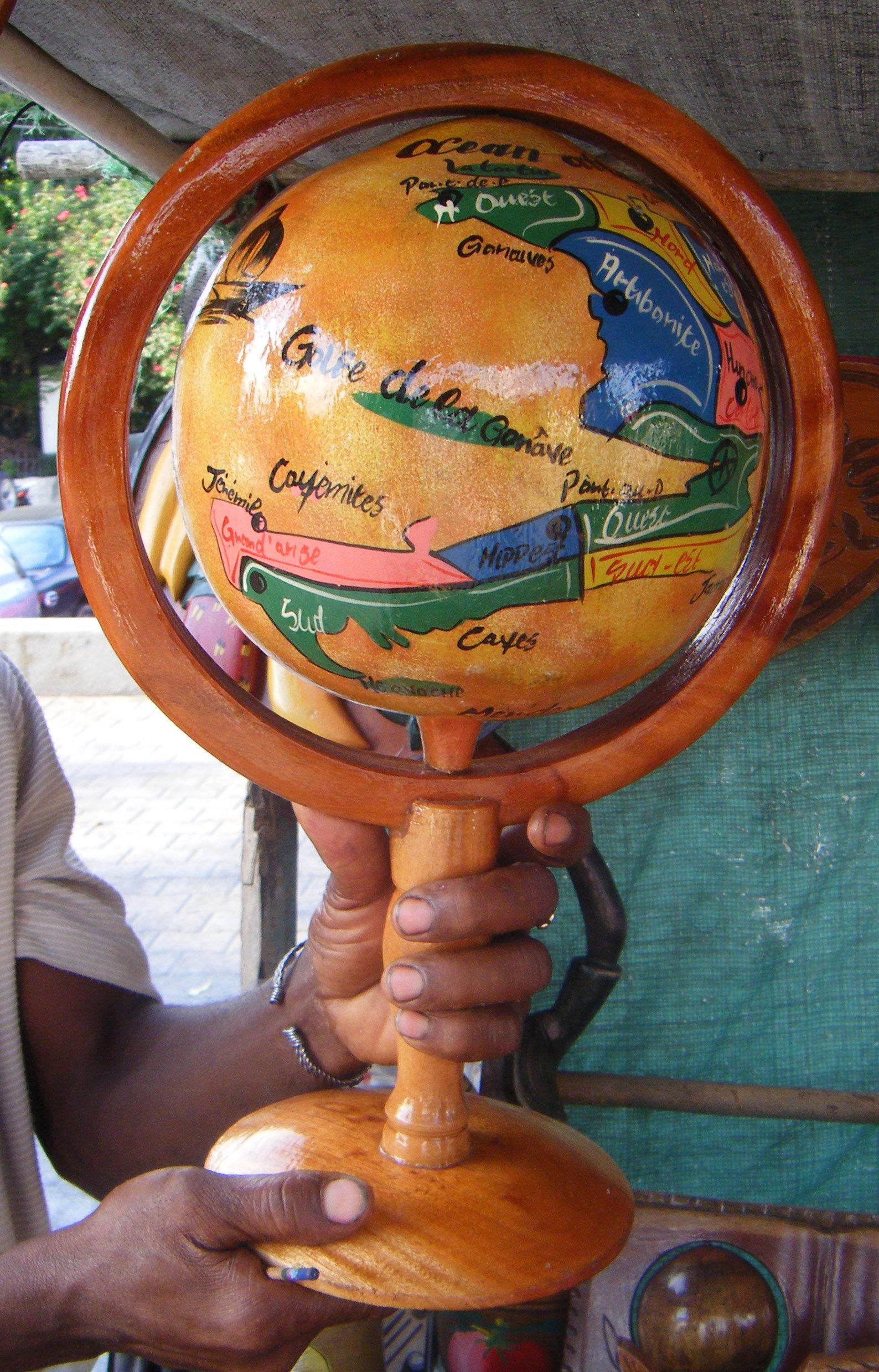 Puinen Maailmaa Kartta Haiti Alkuperainen Sisustus 27 00 Eur