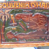 Haiti Kartta Puinen Sisustus Haitin Matkamuisto Maailman 24 00